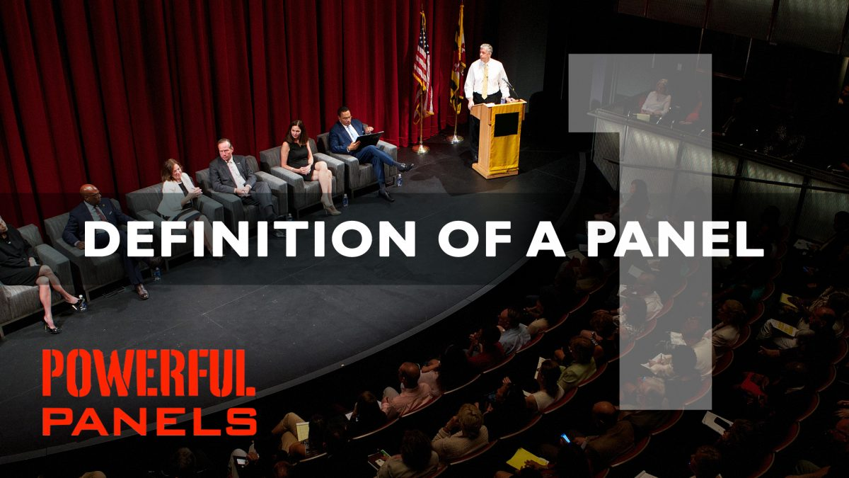What is a panel discussion