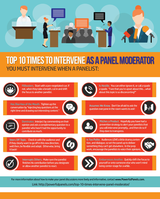 Top 10 Times to Intervene as a Panel Moderator Kristin Arnold