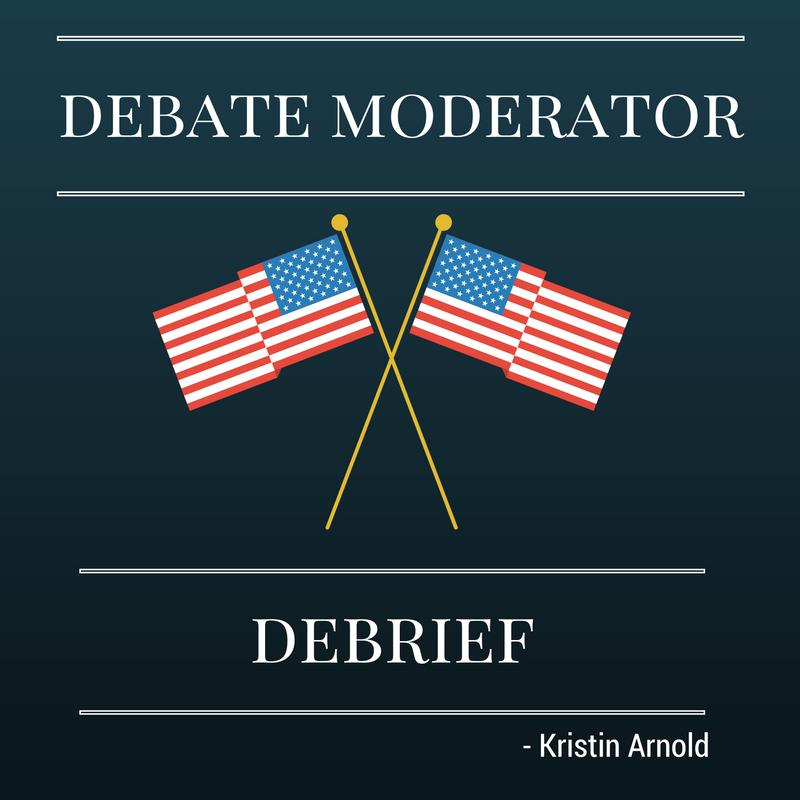 Vice Presidential Debate Moderator - Kristin Arnold